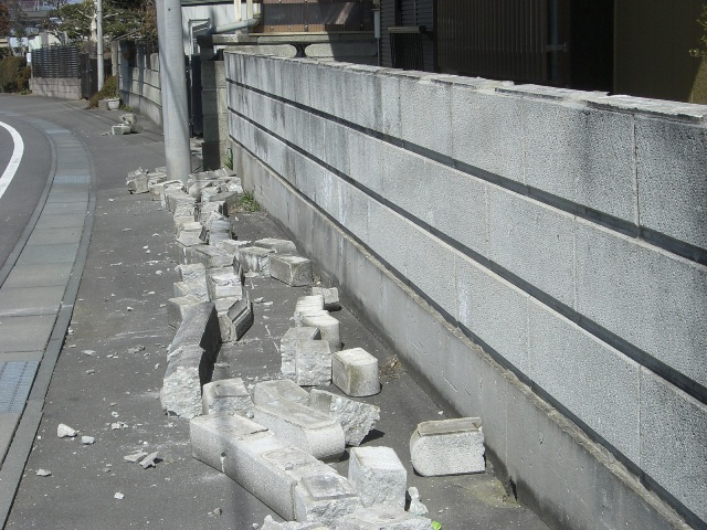 東北・茨城沖大地震・東日本大地震における茨城県石岡市の建物被害状況の写真2