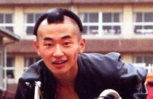 菅野哲正が中学3年の時モヒカンにした写真